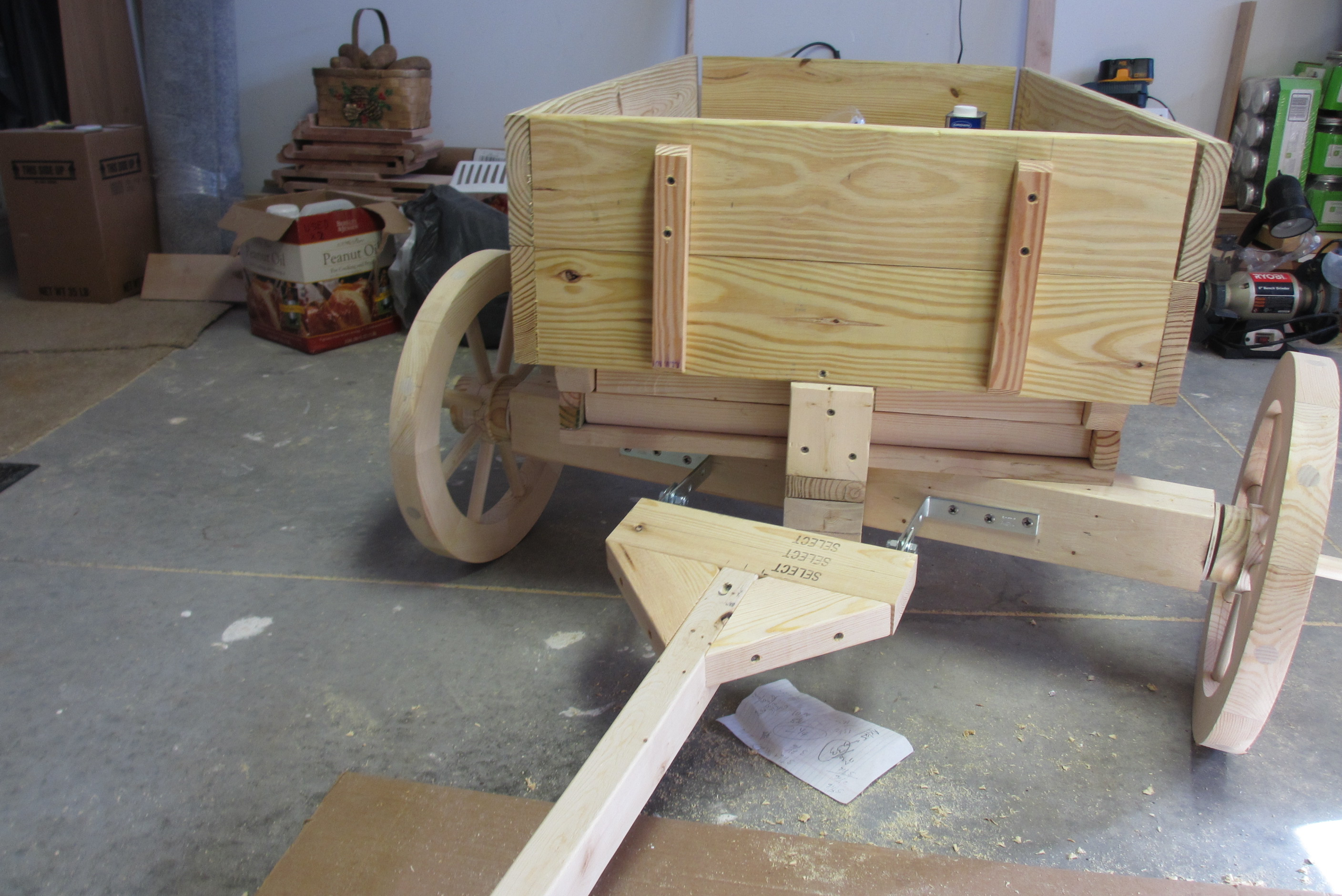 Wagon Front Axle : Wagon project build n cook with tom